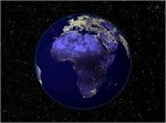 africa from space at night